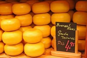 Gouda kann man vor Schimmelbefall durch die Aufbewahrung in einer Käsedose im Kühlschrank schützen